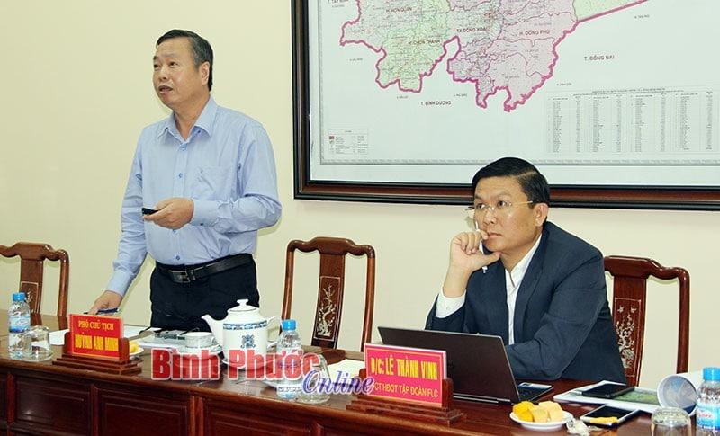 FLC đề xuất đầu tư dự án gần 1.800 ha tại Bình Phước